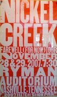 Nickel Creek Poster